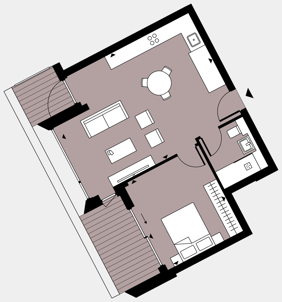 Brigade Court London SE1 Apartment floorplan - L8 83 Errington House