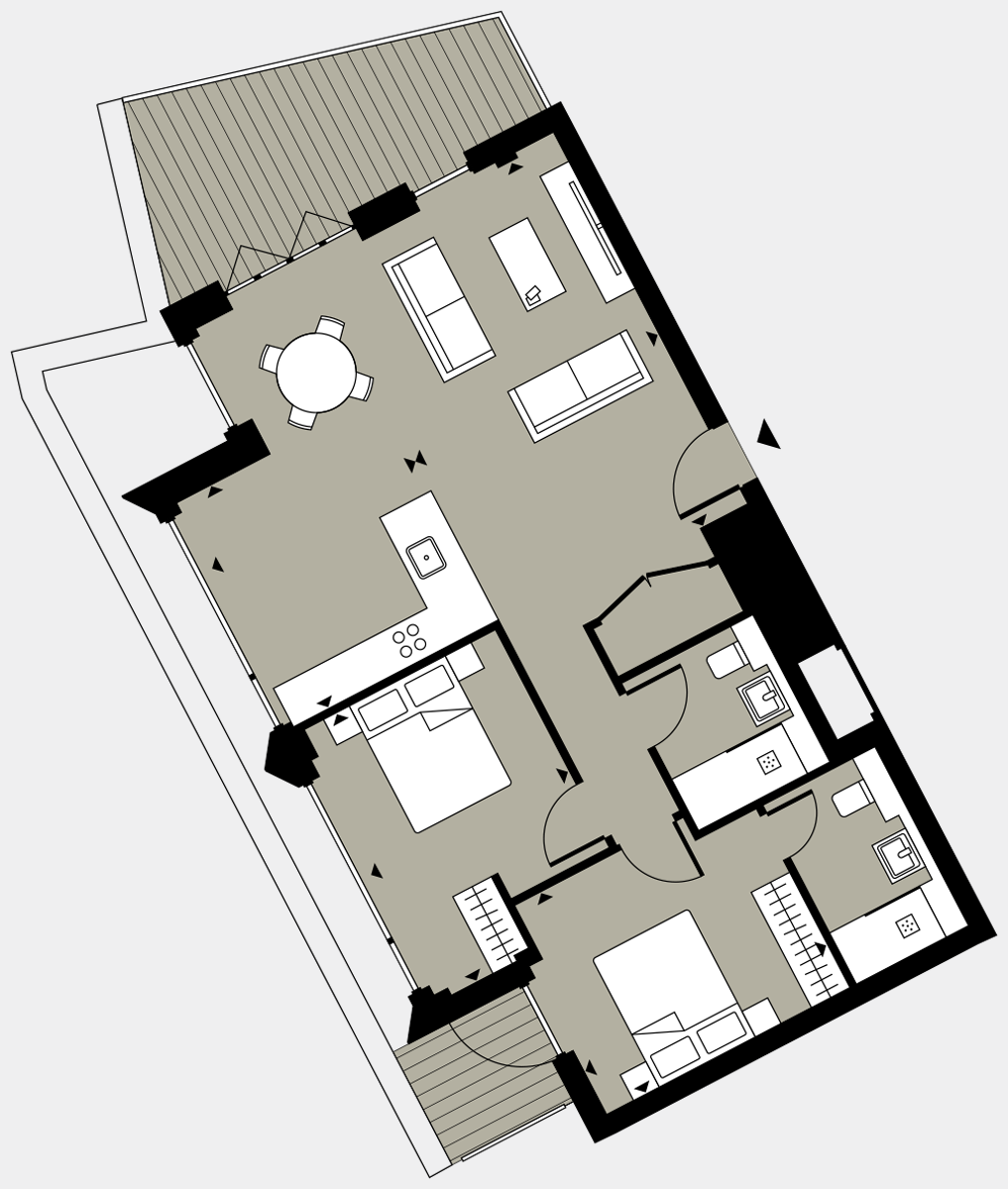 Brigade Court London SE1 Apartment floorplan - L8 84 Errington House