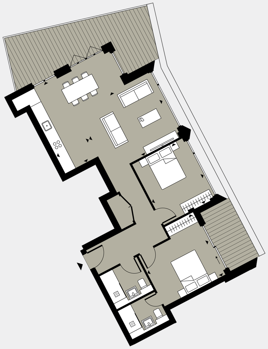 Brigade Court London SE1 Apartment floorplan - L8 85 Errington House