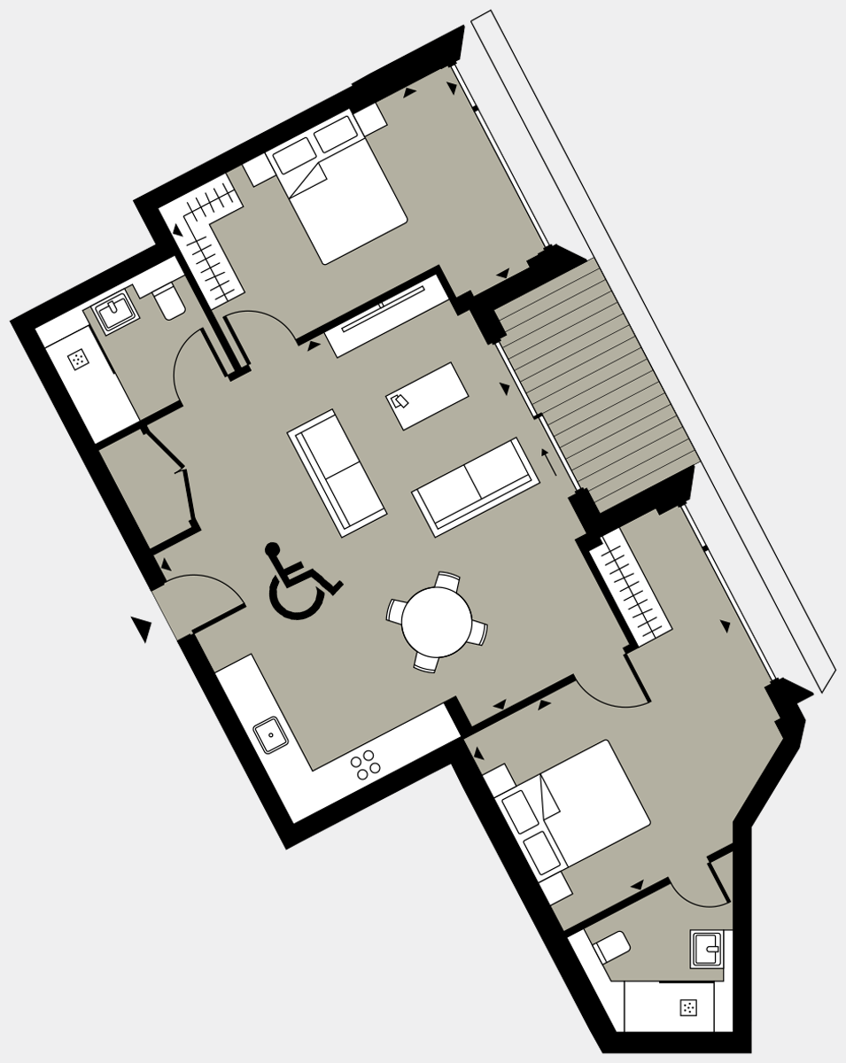 Brigade Court London SE1 Apartment floorplan - L8 86 Errington House