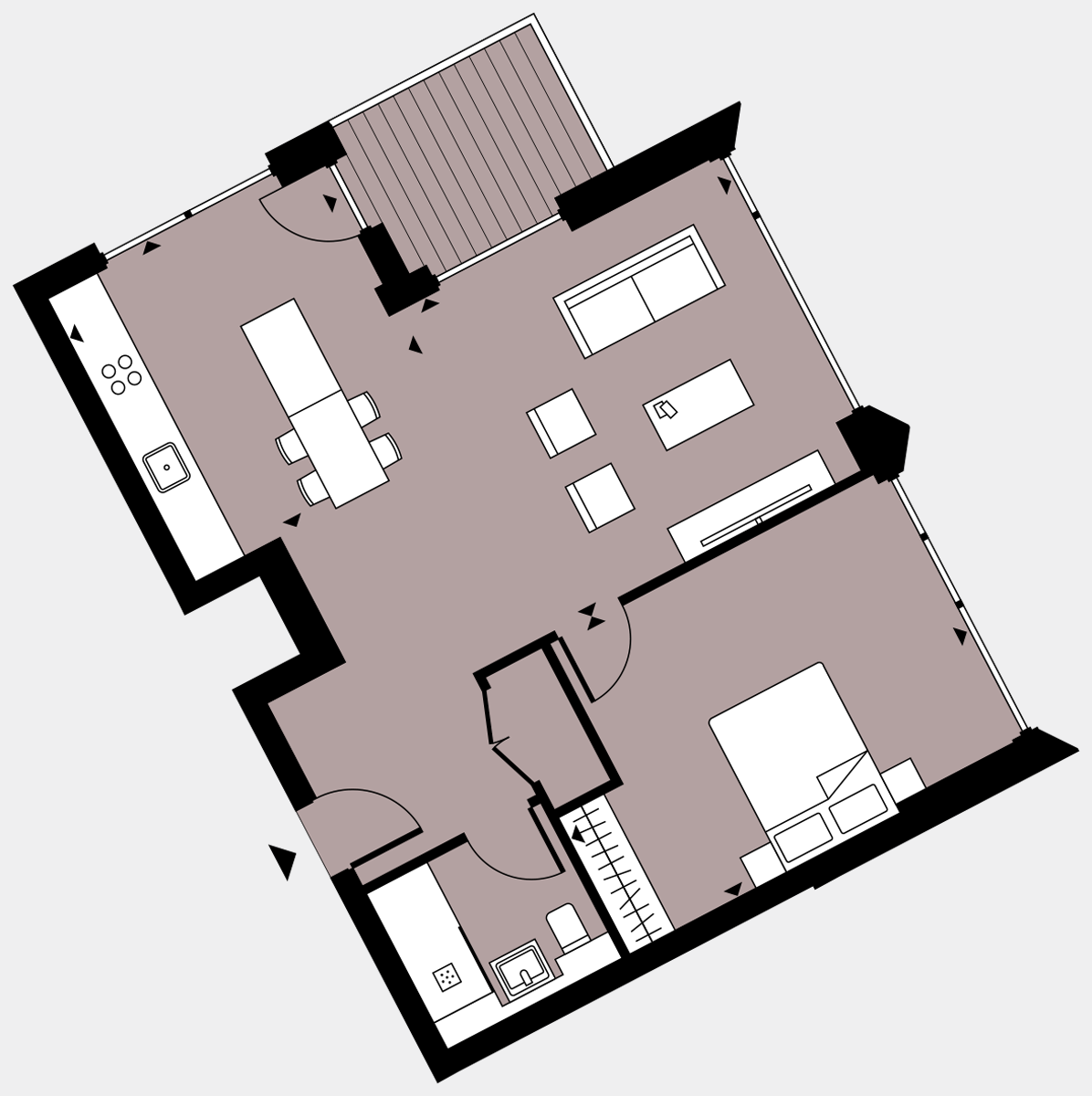 Brigade Court London SE1 Apartment floorplan - L9 97 Errington House