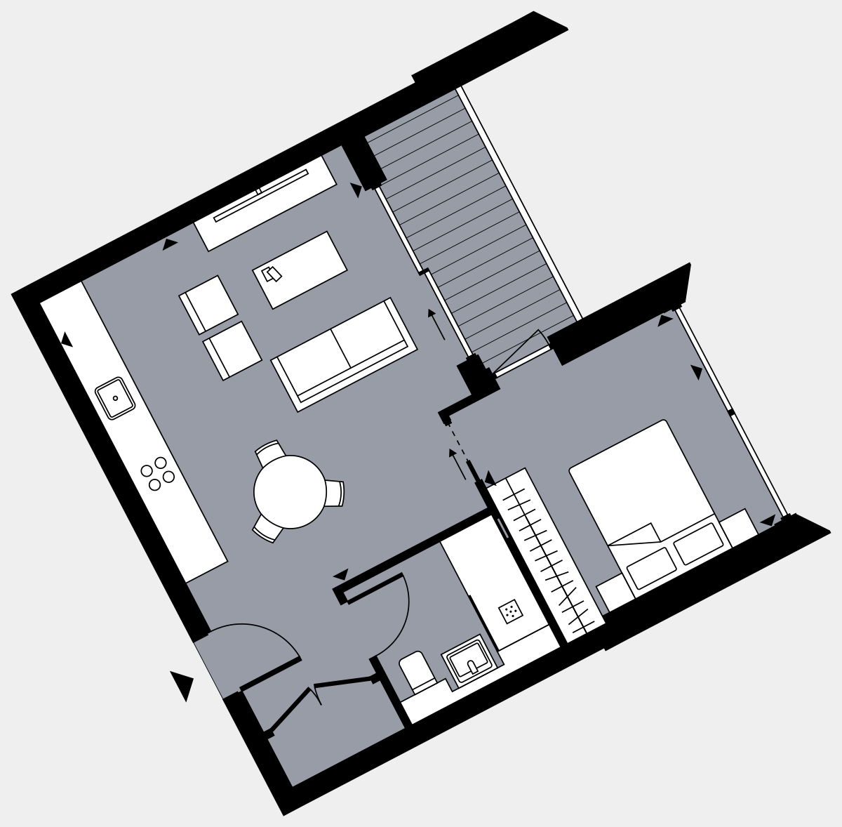 Brigade Court London SE1 Apartment floorplan - L9 98 Errington House
