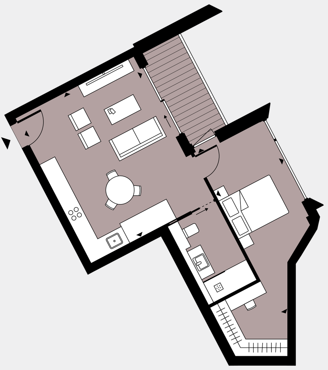Brigade Court London SE1 Apartment floorplan - L9 99 Errington House