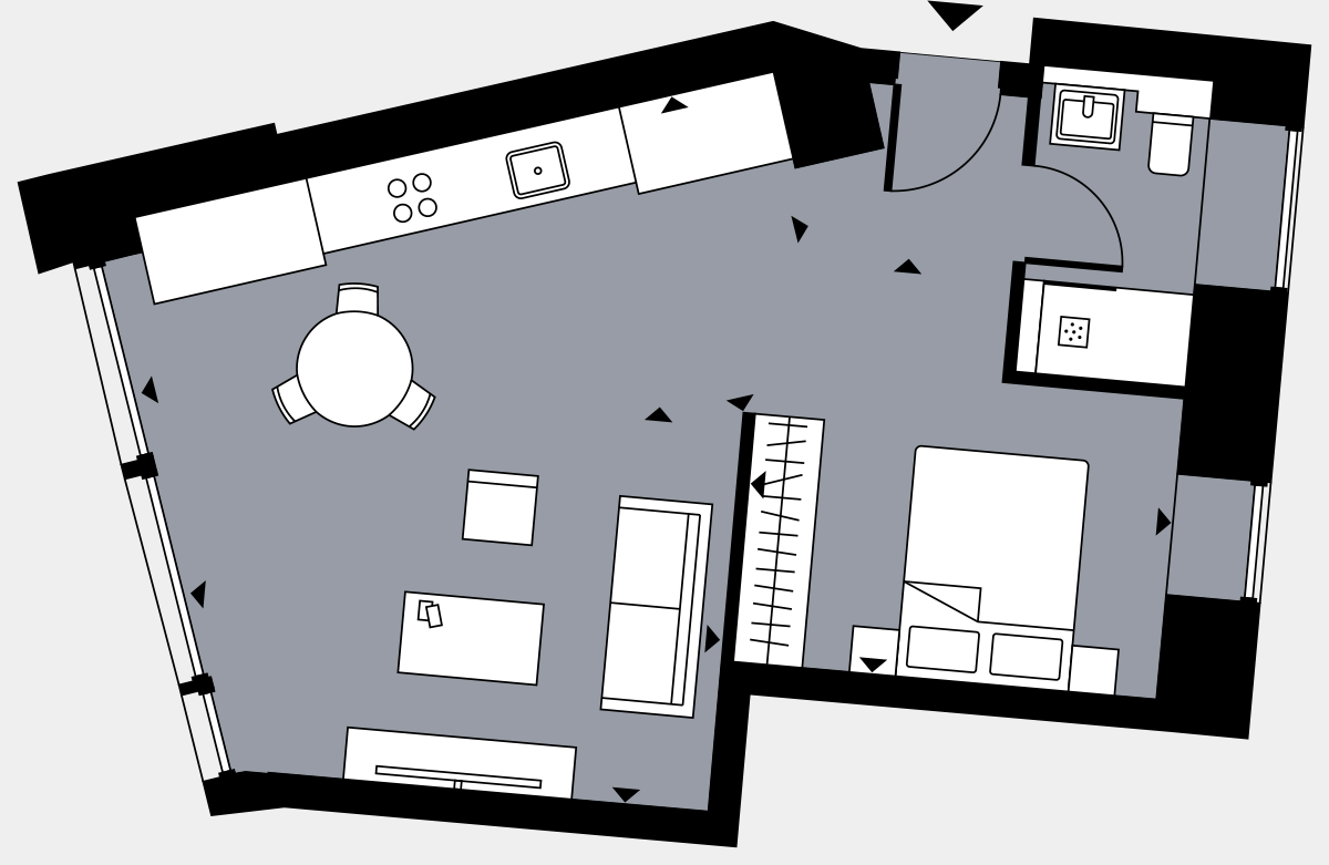 Brigade Court London SE1 Apartment floorplan - L1 1 Davies House