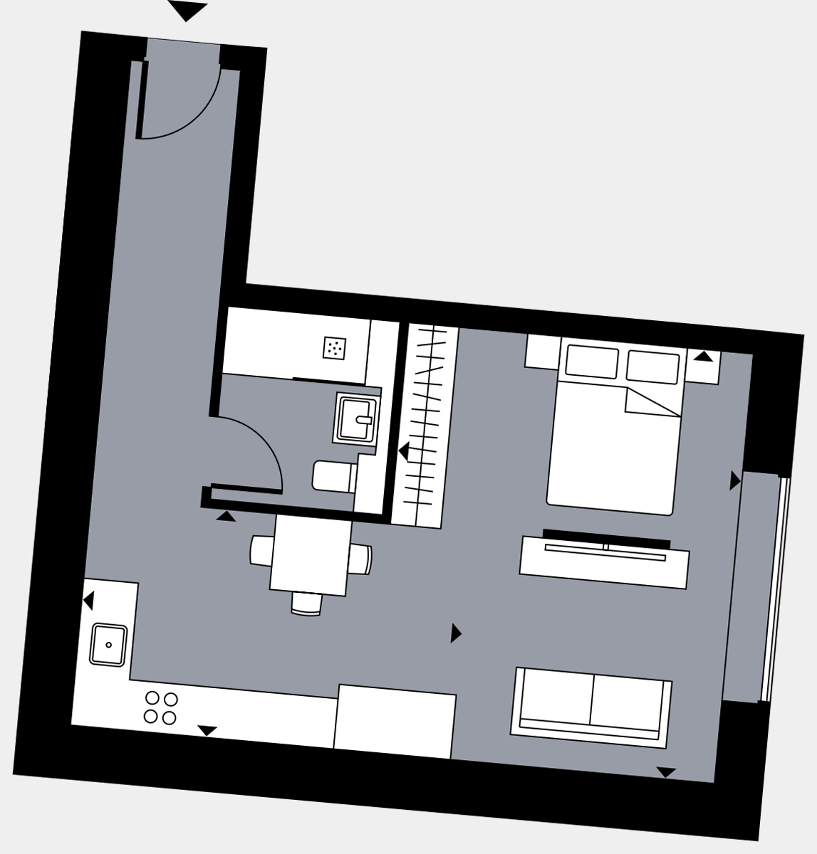 Brigade Court London SE1 Apartment floorplan - L1 10 Davies House