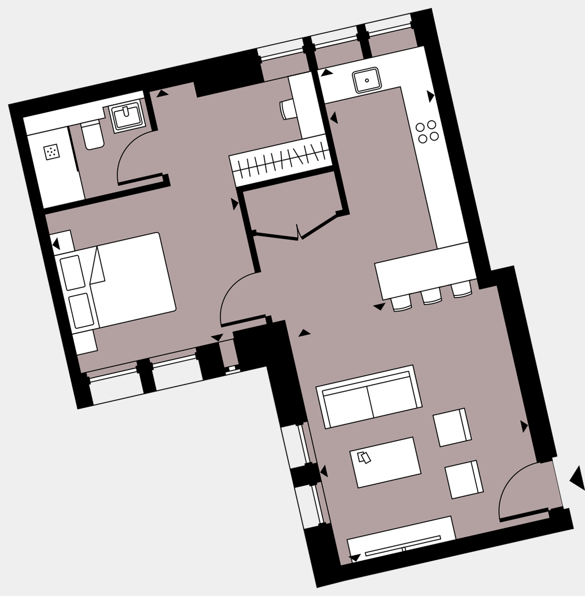 Brigade Court London SE1 Apartment floorplan - L1 3 Davies House