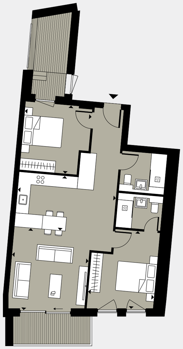 Brigade Court London SE1 Apartment floorplan - L1 6 Davies House