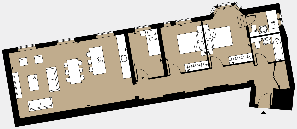 Brigade Court London SE1 Apartment floorplan - L1 7 Davies House
