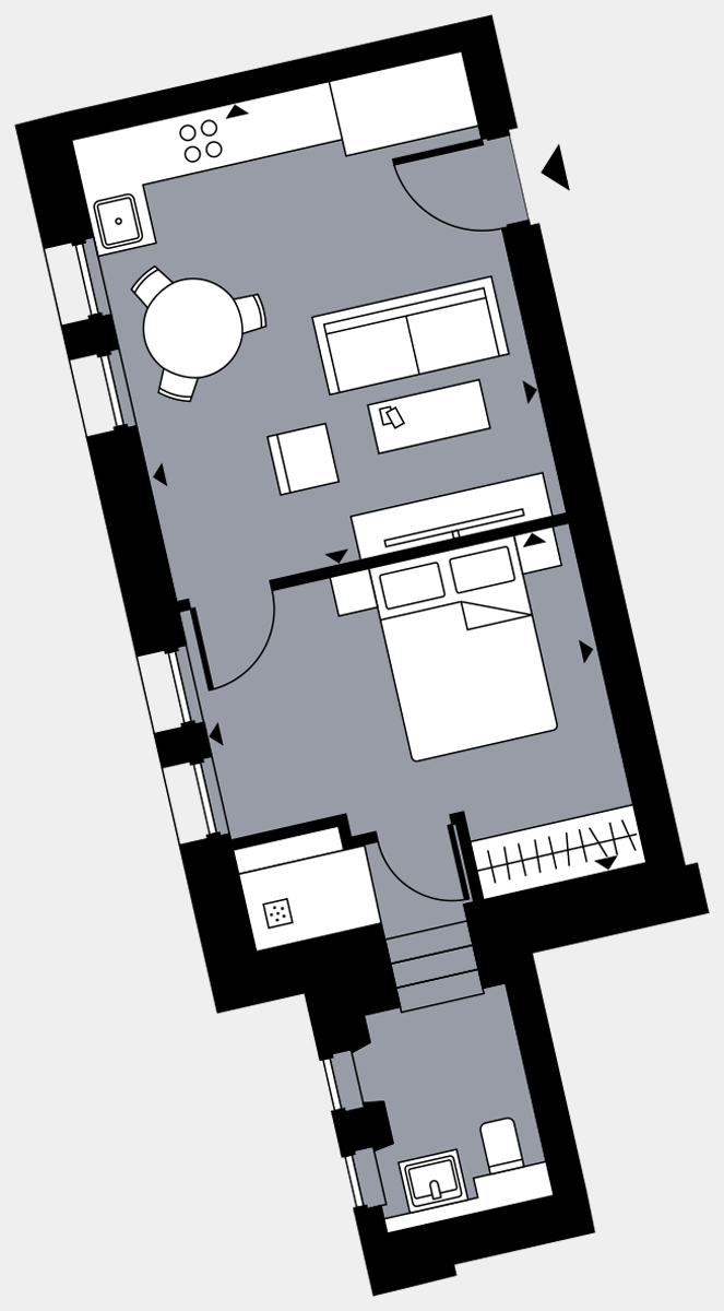 Brigade Court London SE1 Apartment floorplan - L2 12 Davies House