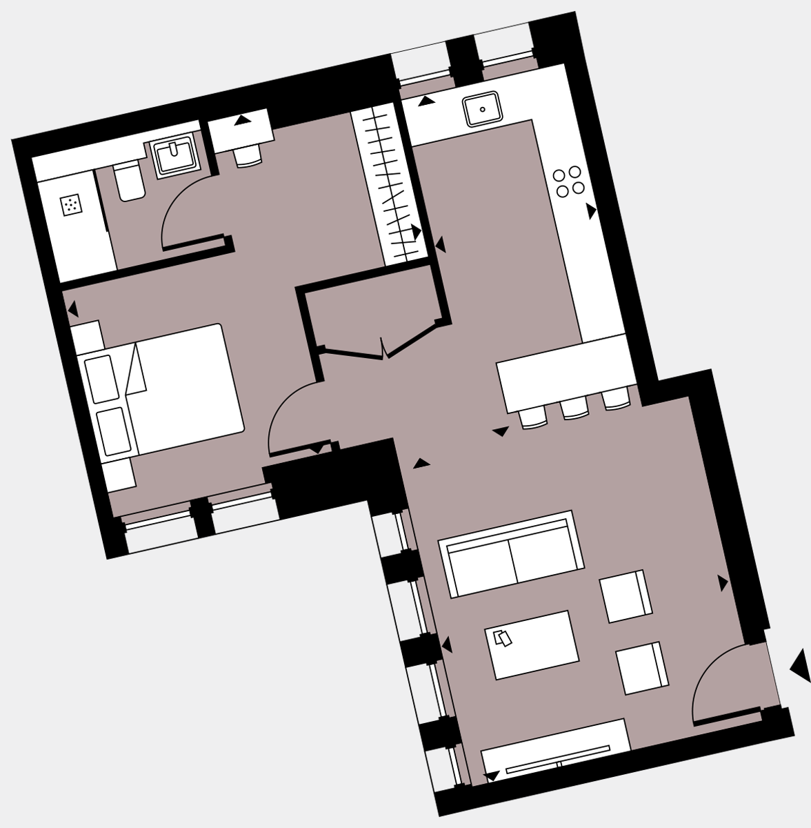 Brigade Court London SE1 Apartment floorplan - L2 13 Davies House