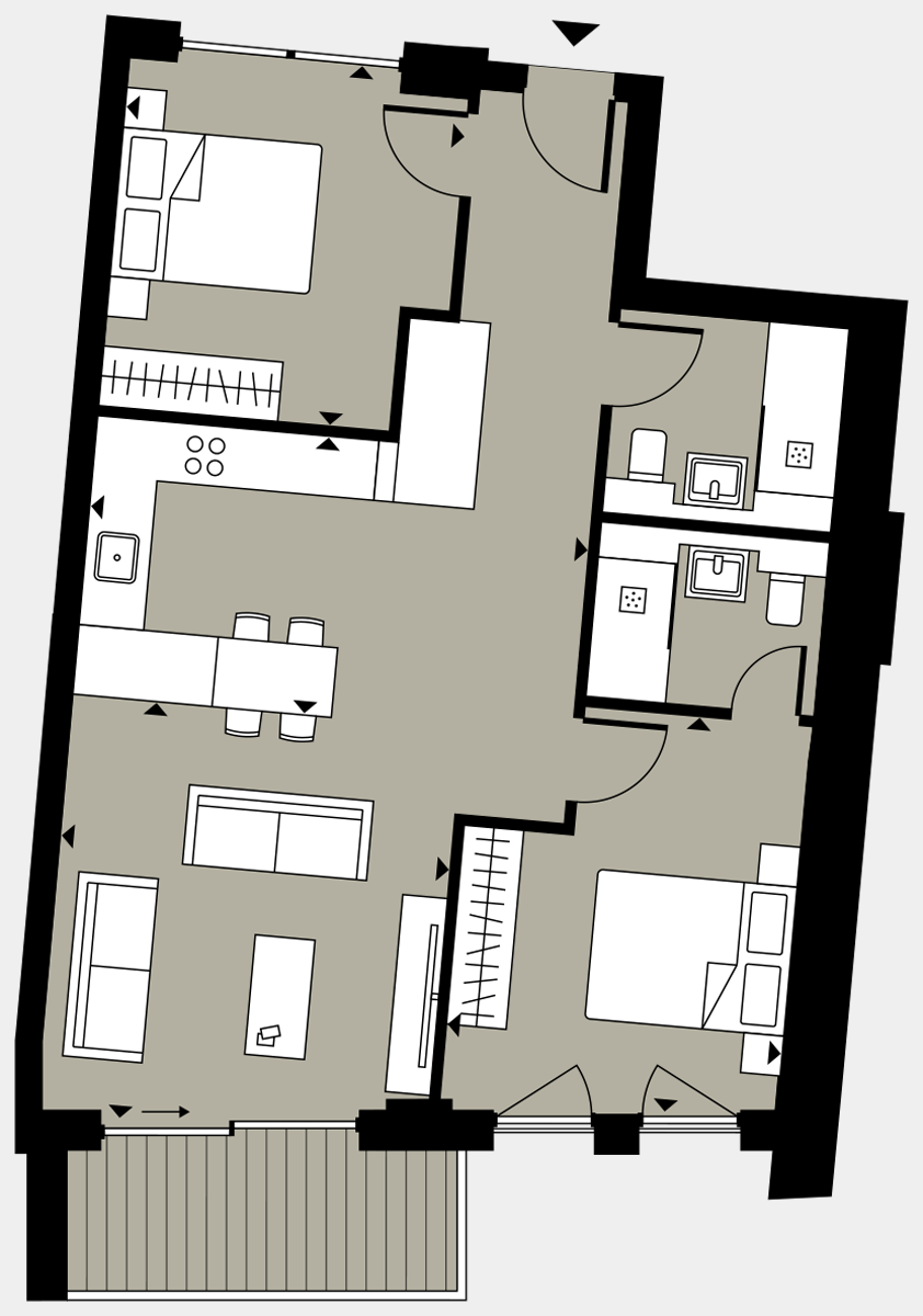 Brigade Court London SE1 Apartment floorplan - L2 16 Davies House