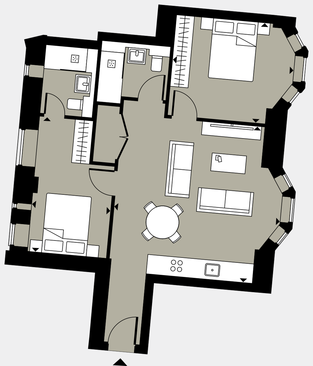 Brigade Court London SE1 Apartment floorplan - L2 17 Davies House