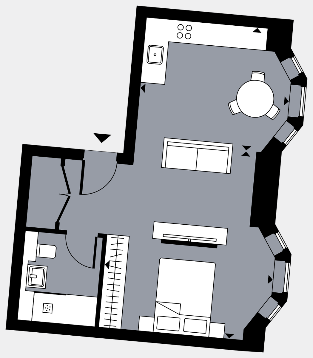 Brigade Court London SE1 Apartment floorplan - L2 18 Davies House