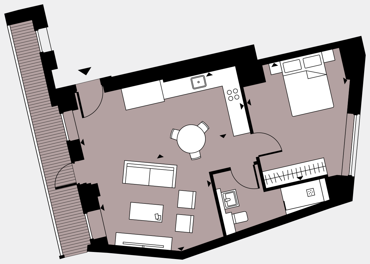 Brigade Court London SE1 Apartment floorplan - L3 20 Davies House
