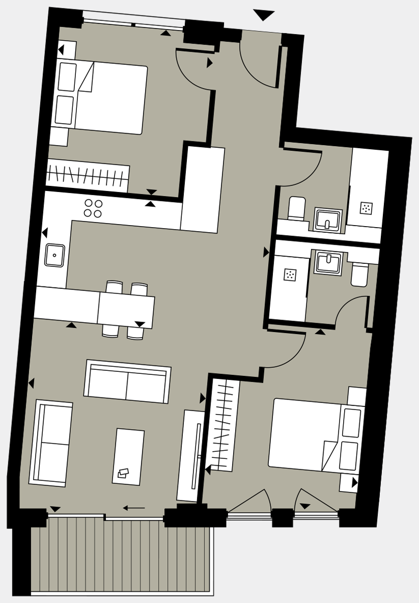 Brigade Court London SE1 Apartment floorplan - L3 25 Davies House