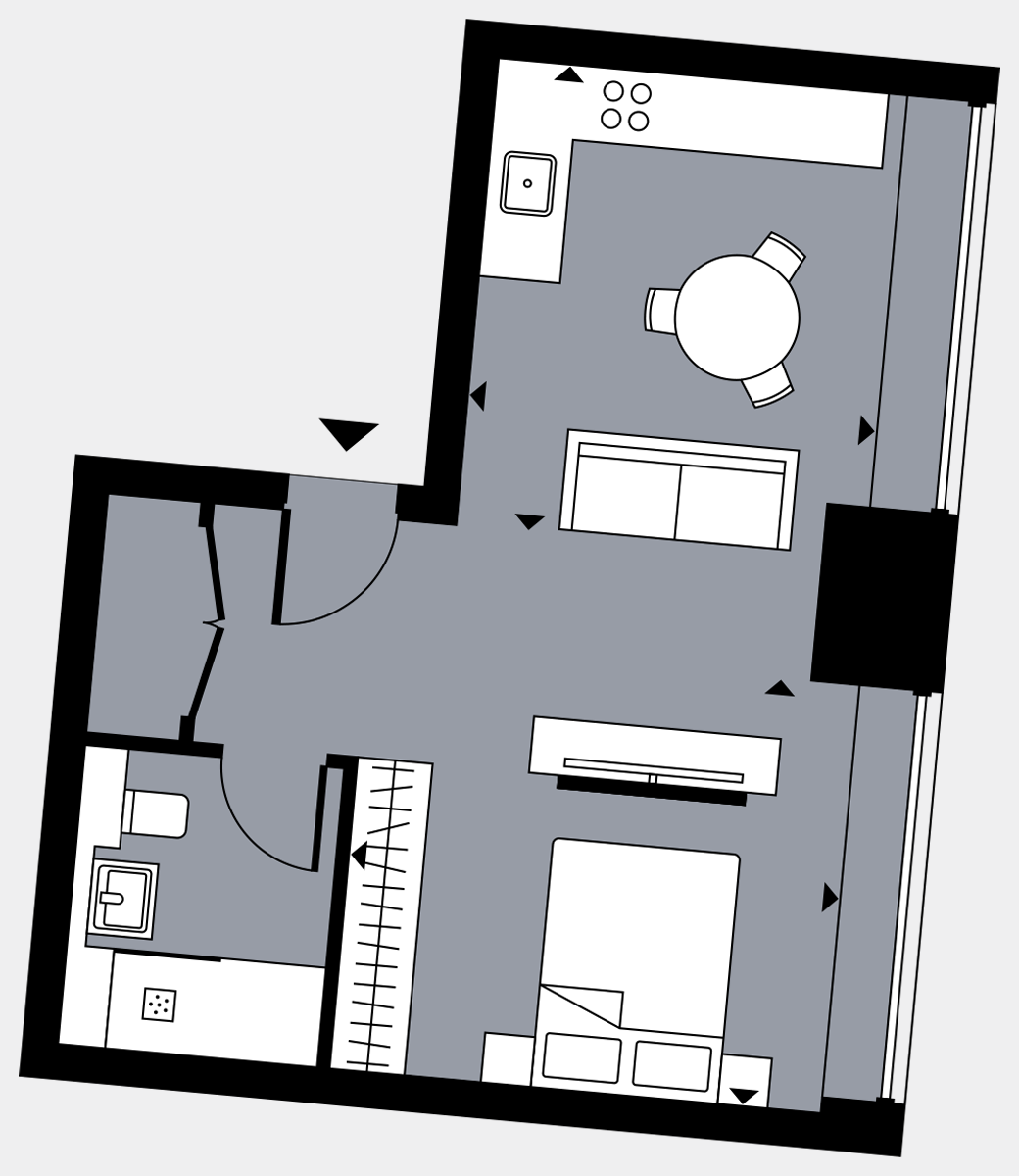 Brigade Court London SE1 Apartment floorplan - L3 27 Davies House