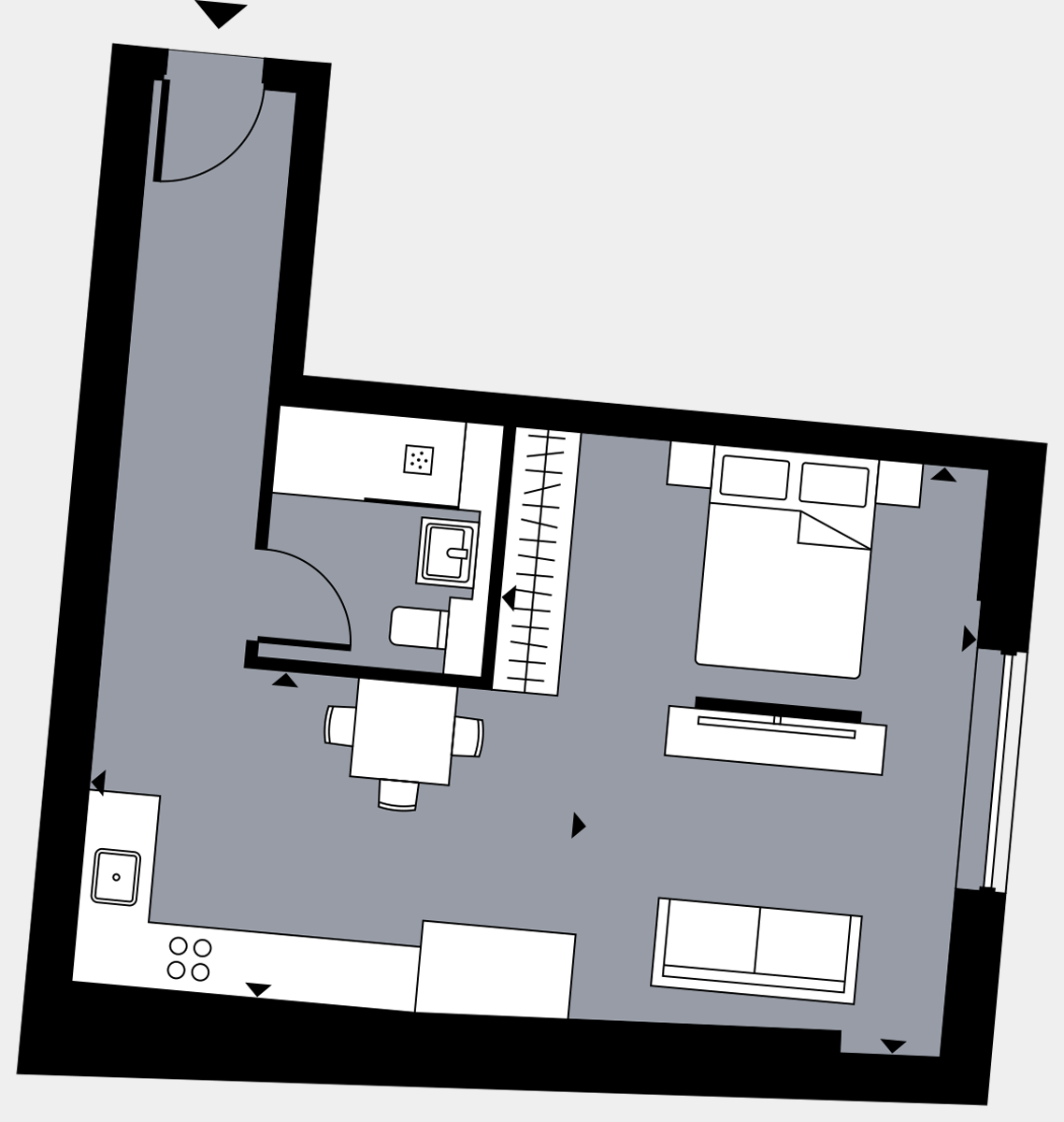 Brigade Court London SE1 Apartment floorplan - L3 28 Davies House