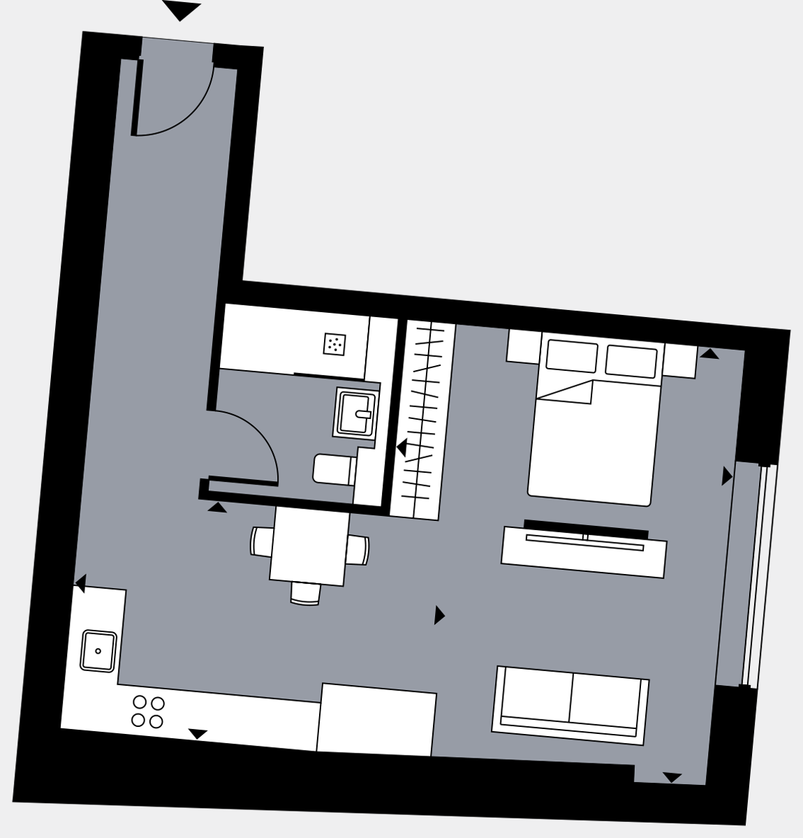 Brigade Court London SE1 Apartment floorplan - L4 34 Davies House