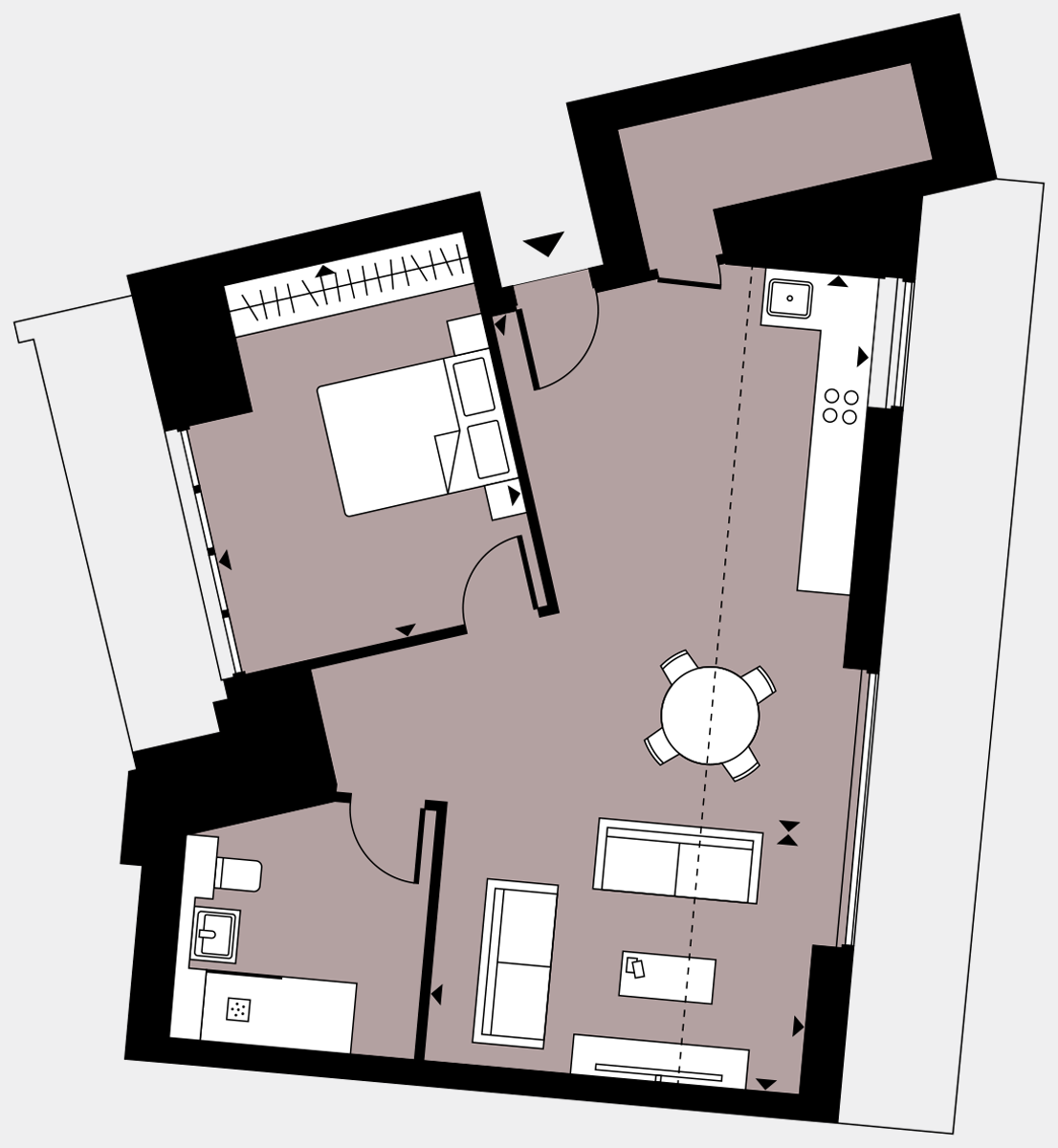 Brigade Court London SE1 Apartment floorplan - L5 35 Davies House