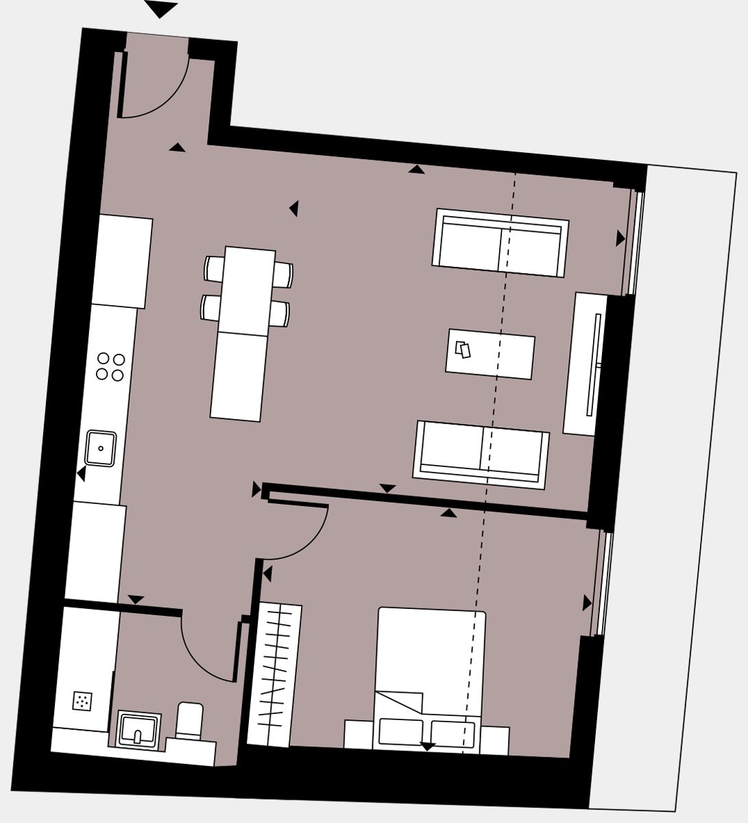 Brigade Court London SE1 Apartment floorplan - L5 38 Davies House